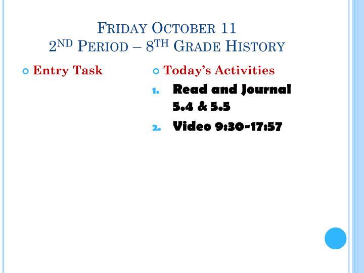 Friday October 11