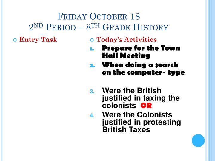 Friday October 18
