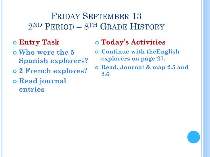 Friday September 13