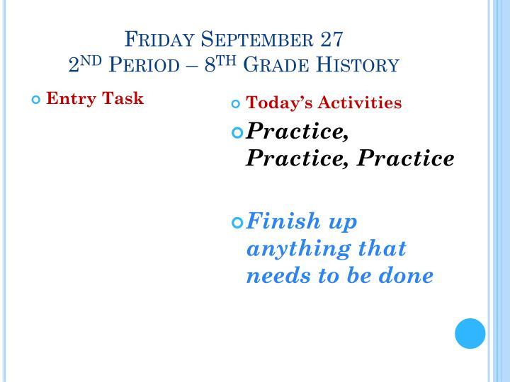 Friday September 27