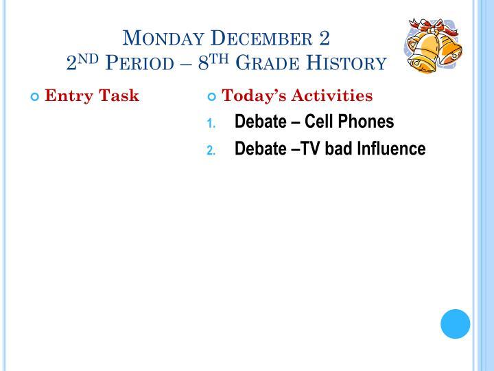 Monday December 2