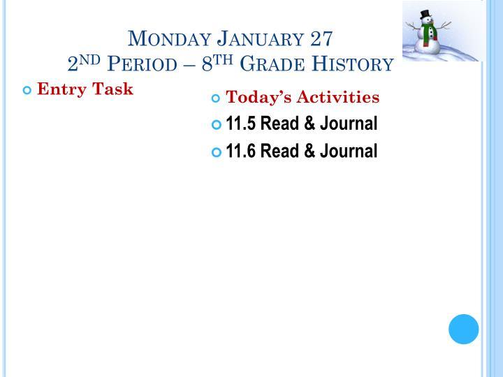 Monday January 27