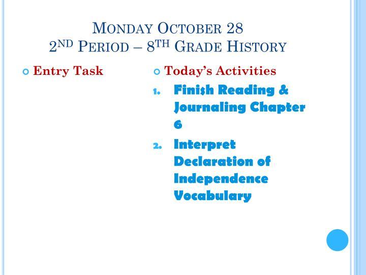 Monday October 28