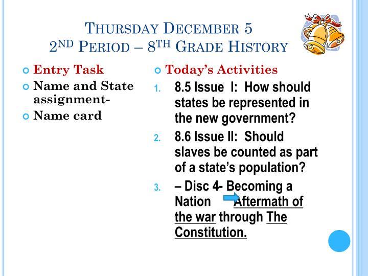 Thursday December