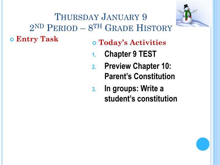 Thursday January