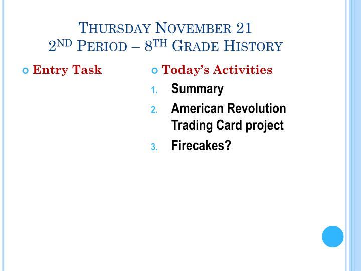 Thursday November 21