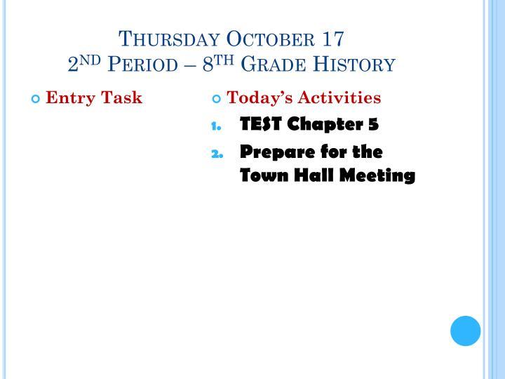 Thursday October 17