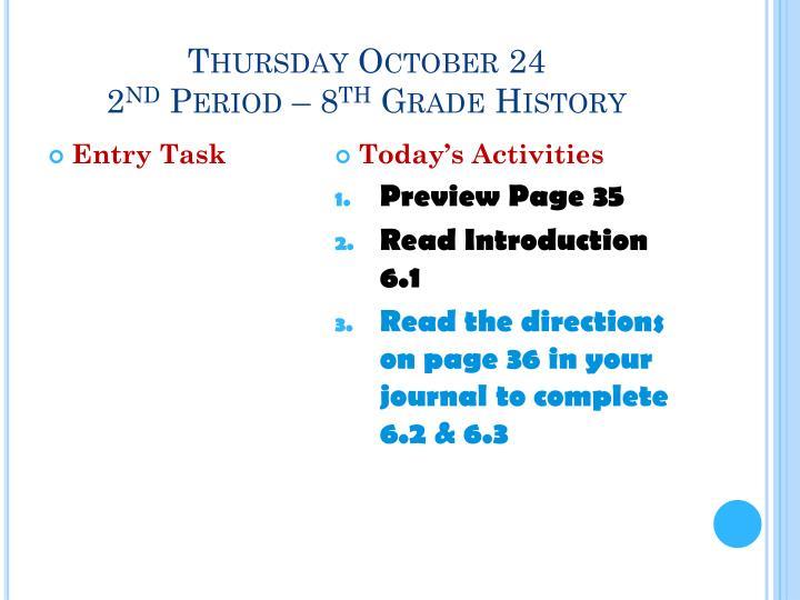Thursday October 24