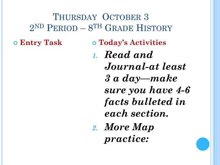 Thursday  October 3