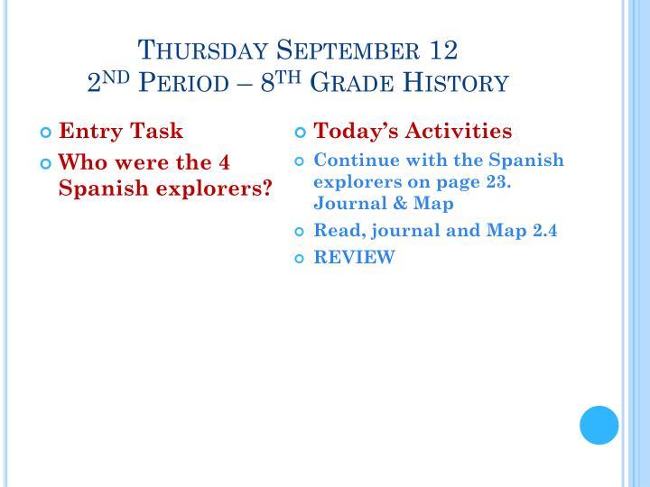 Thursday September 12