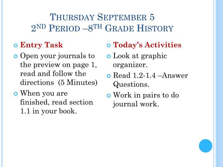 Thursday September