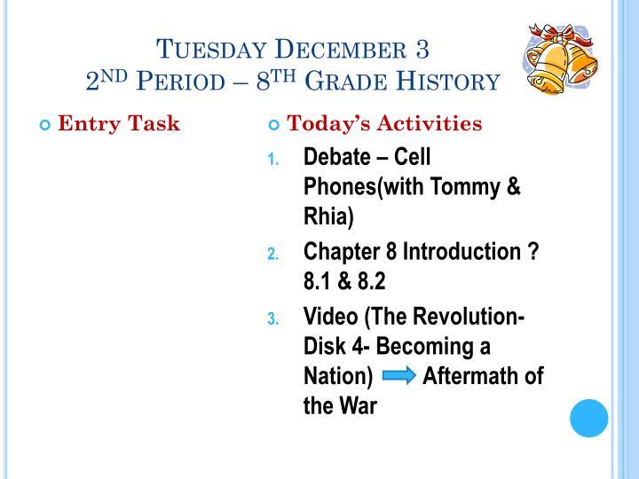 Tuesday December 3
