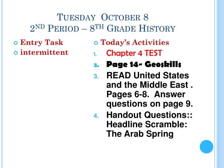 Tuesday  October