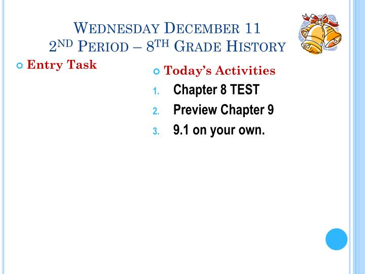 Wednesday December 11