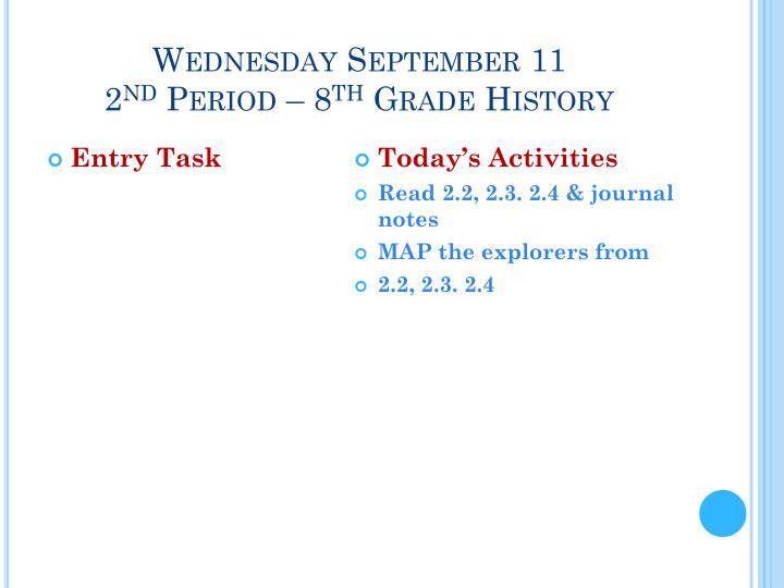 Wednesday September 11