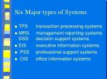 six major types of systems