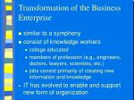 transformation of the business enterprise1