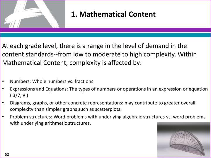 1. Mathematical
