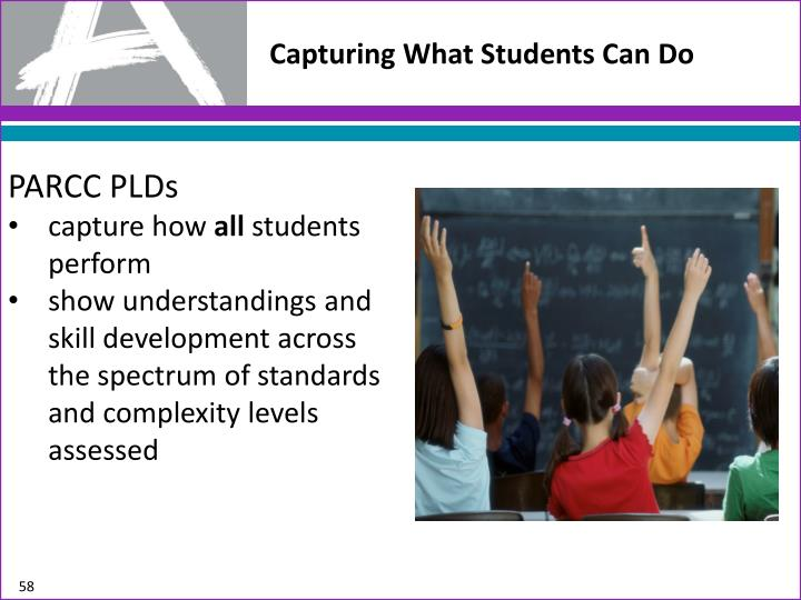 Capturing What Students Can Do