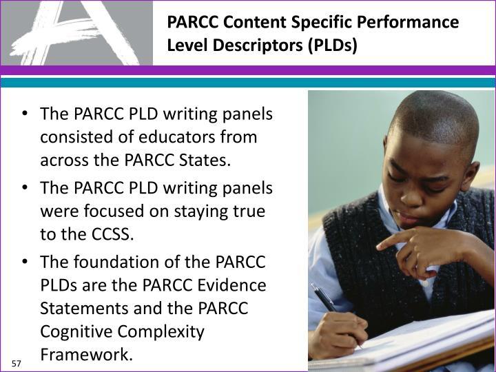 PARCC Content Specific Performance Level Descriptors (PLDs)