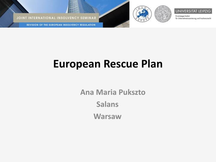 European rescue plan