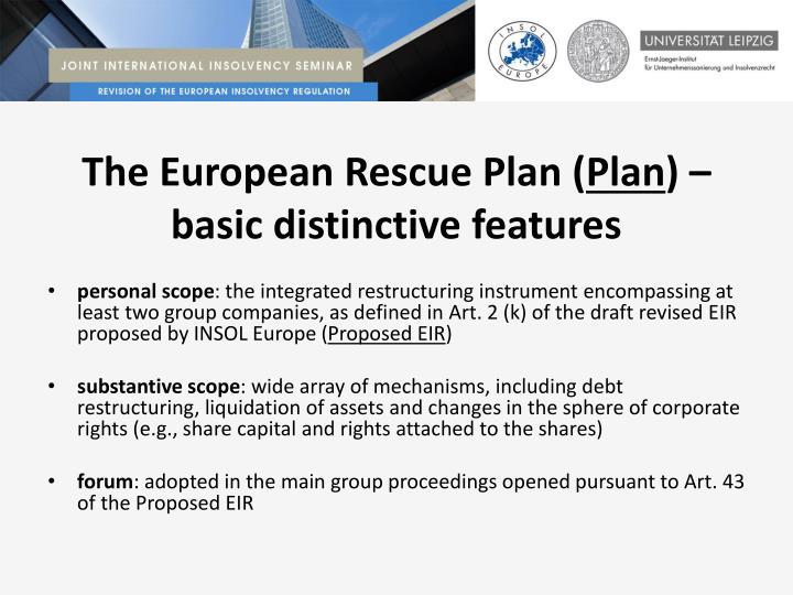 The European Rescue Plan (
