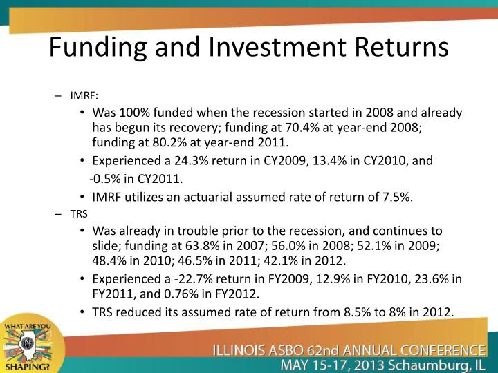Funding and Investment Returns