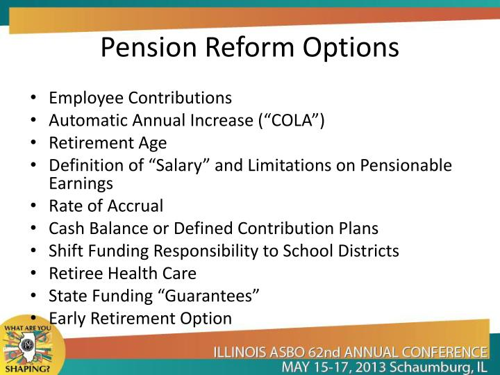 Pension Reform Options