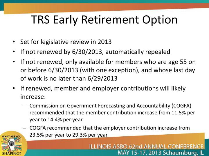 TRS Early Retirement Option