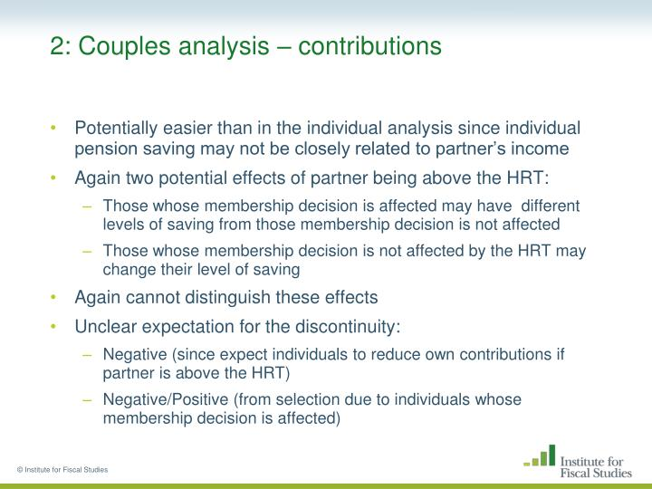 2: Couples analysis – contributions