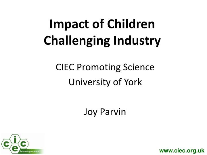 Impact of Children