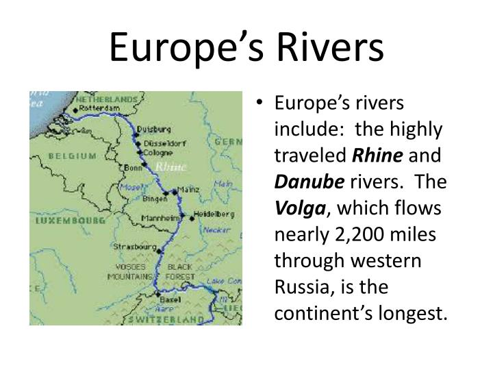 Europe's Rivers