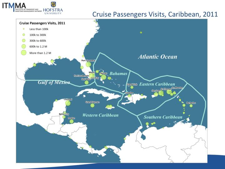 Cruise Passengers Visits, Caribbean, 2011