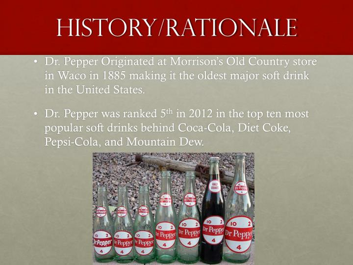 History/Rationale