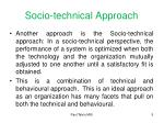 socio technical approach
