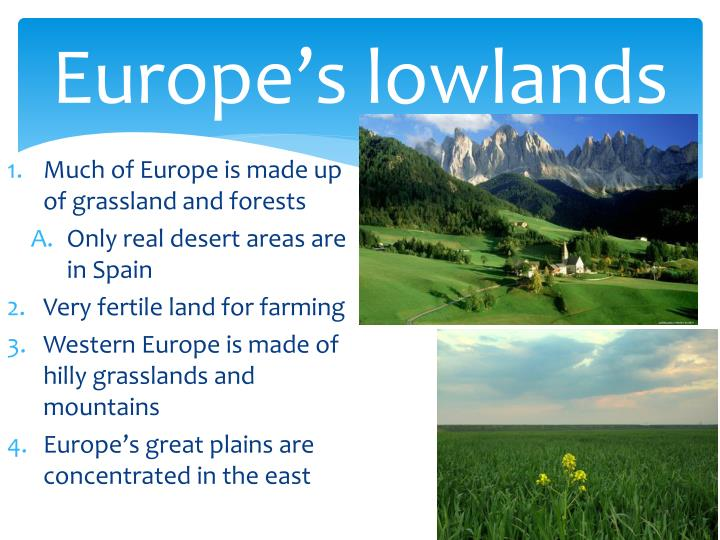 Europe s lowlands