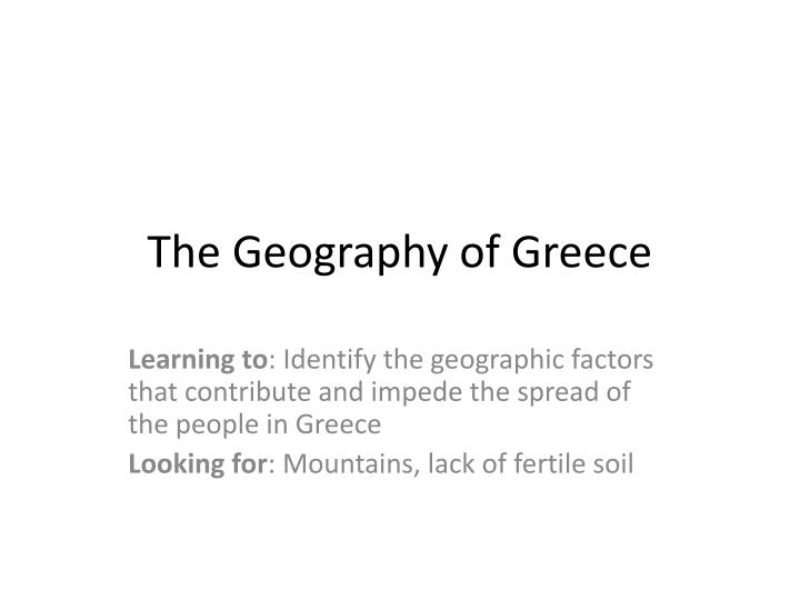 the geography of greece n.