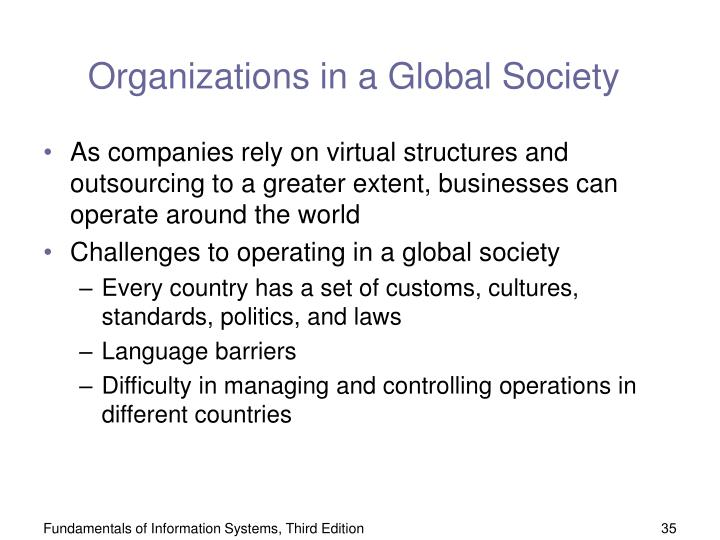 Organizations in a Global Society