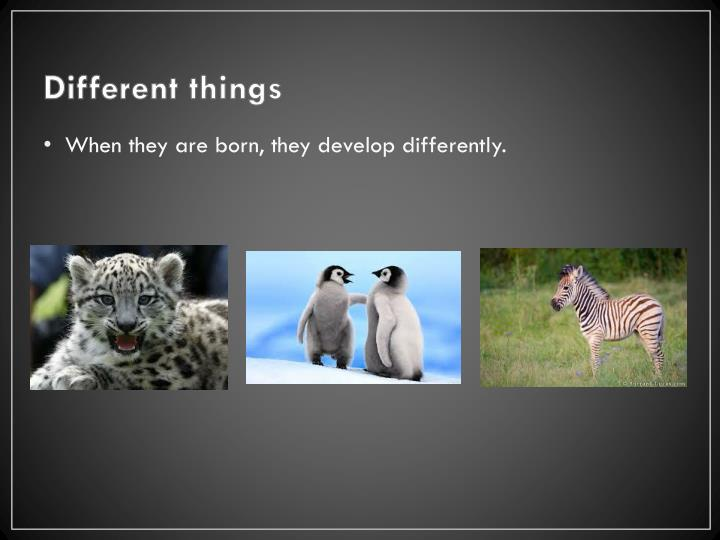 Different things