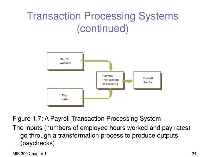 Transaction Processing Systems (continued)