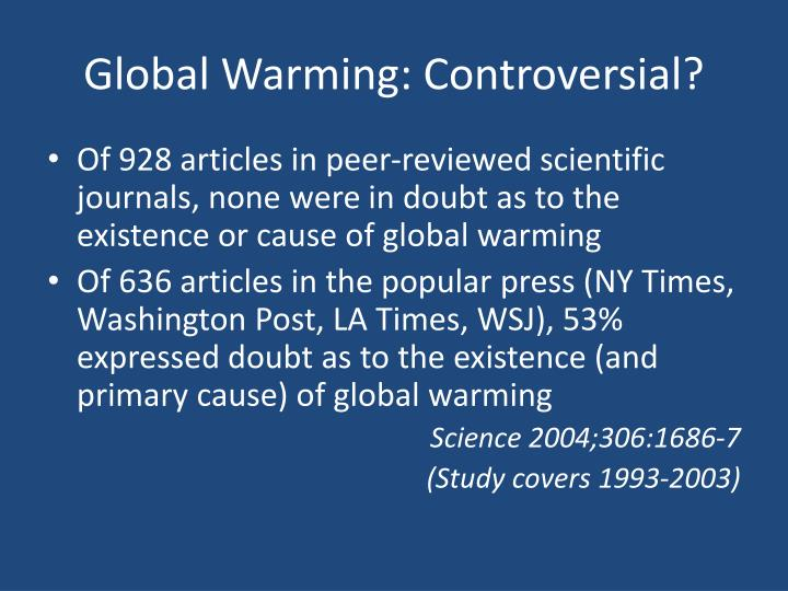 Global Warming: Controversial?