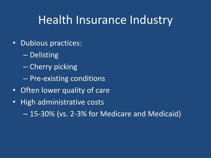 Health Insurance Industry