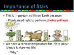 importance of stars