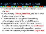 kuiper belt the oort cloud