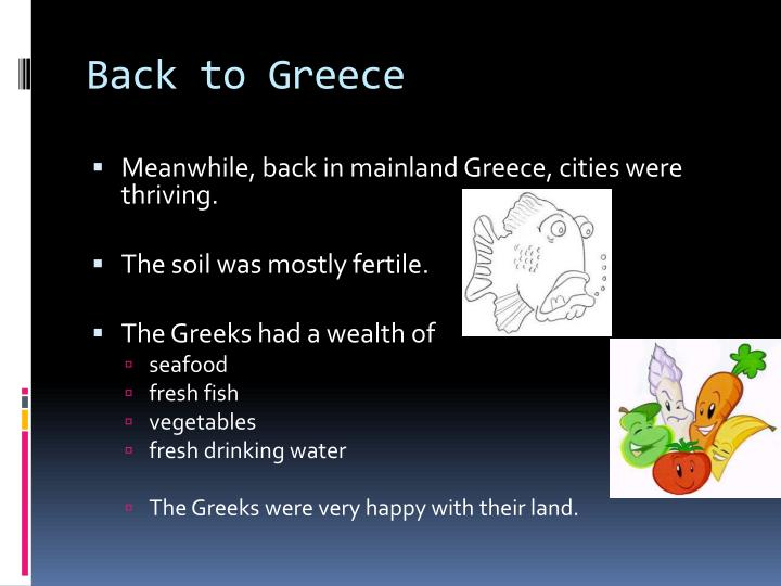 Back to Greece