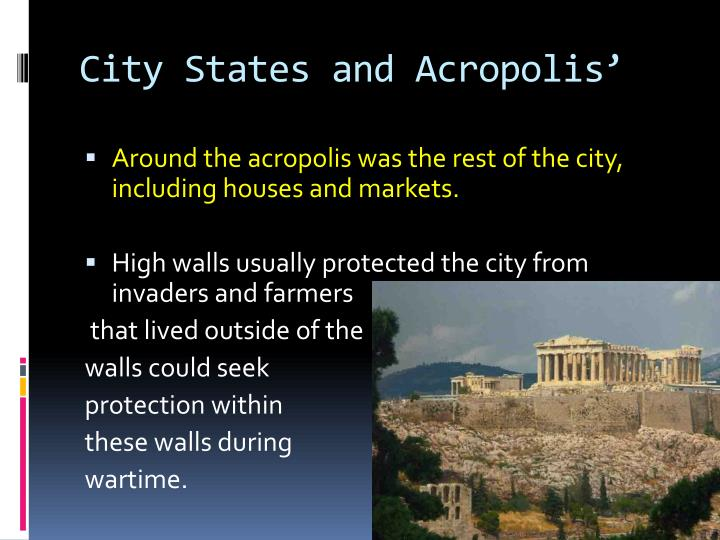 City States and Acropolis'