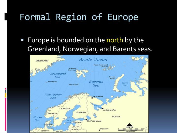 Formal Region of Europe