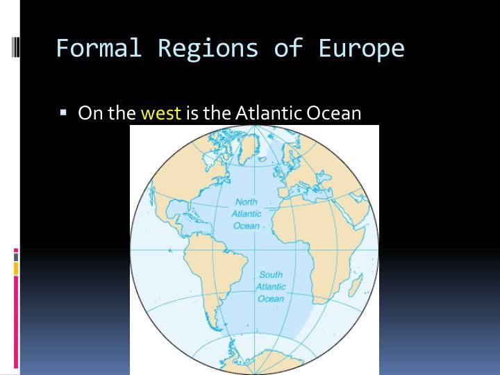 Formal Regions of Europe