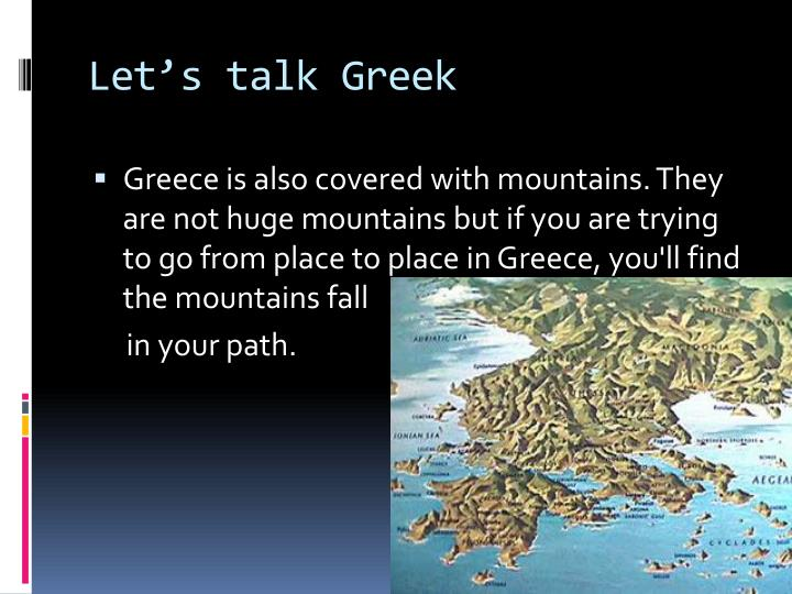 Let's talk Greek