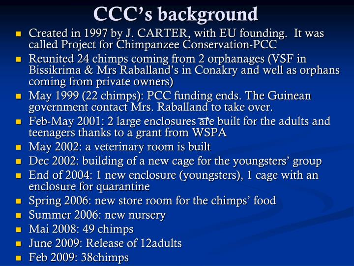 Ccc s background